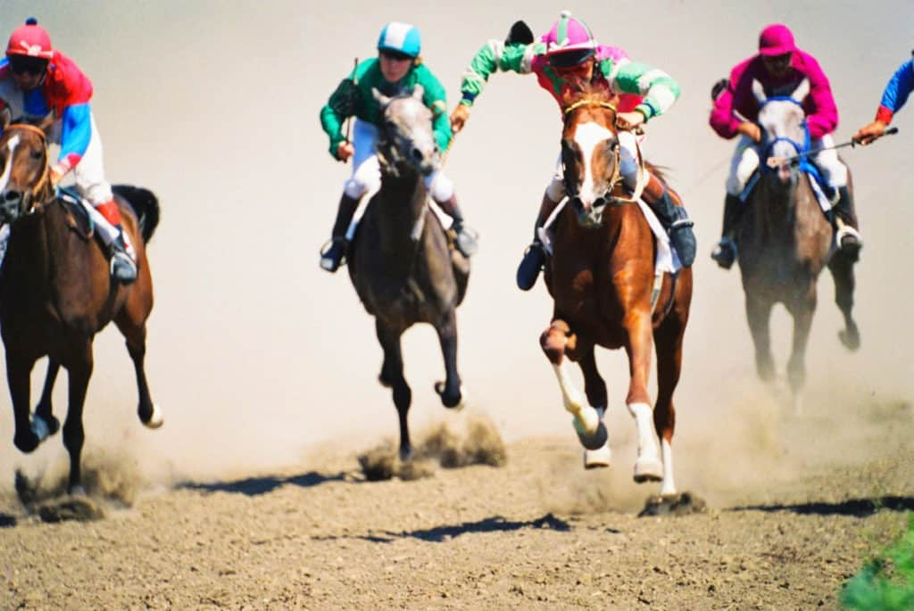 Picture of horses racing,