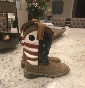 picture of grandson's smoky mountain cowboy boots,