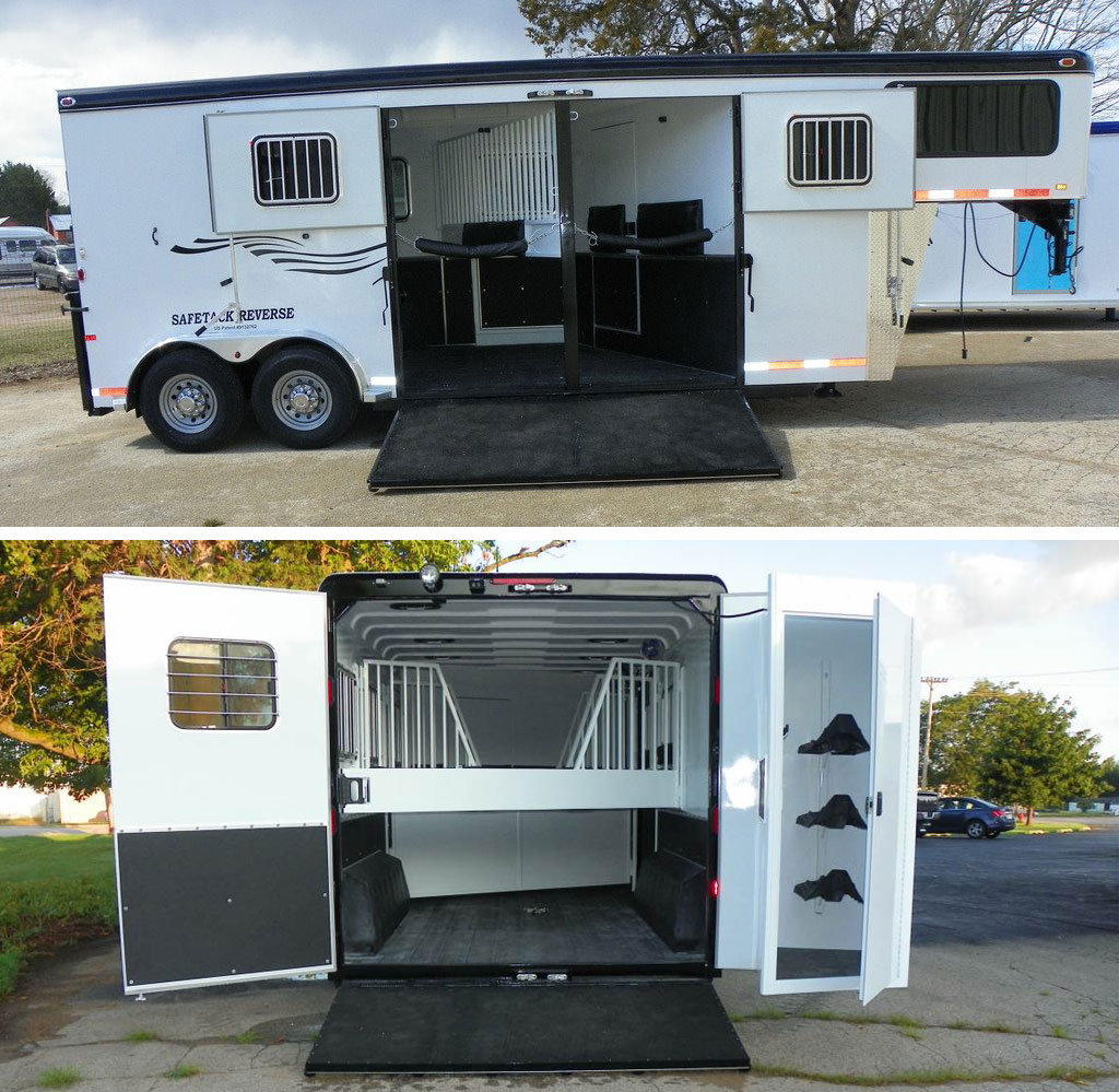 Picture of side load horse trailer