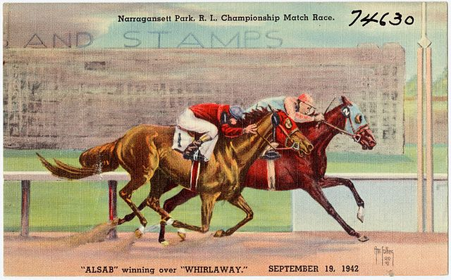 Painting of the racehorse Whirlaway,