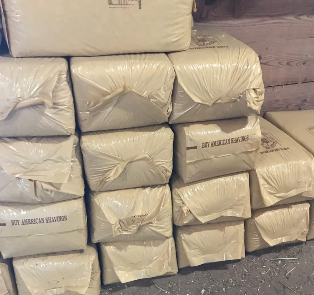 picture of bales of shavings,