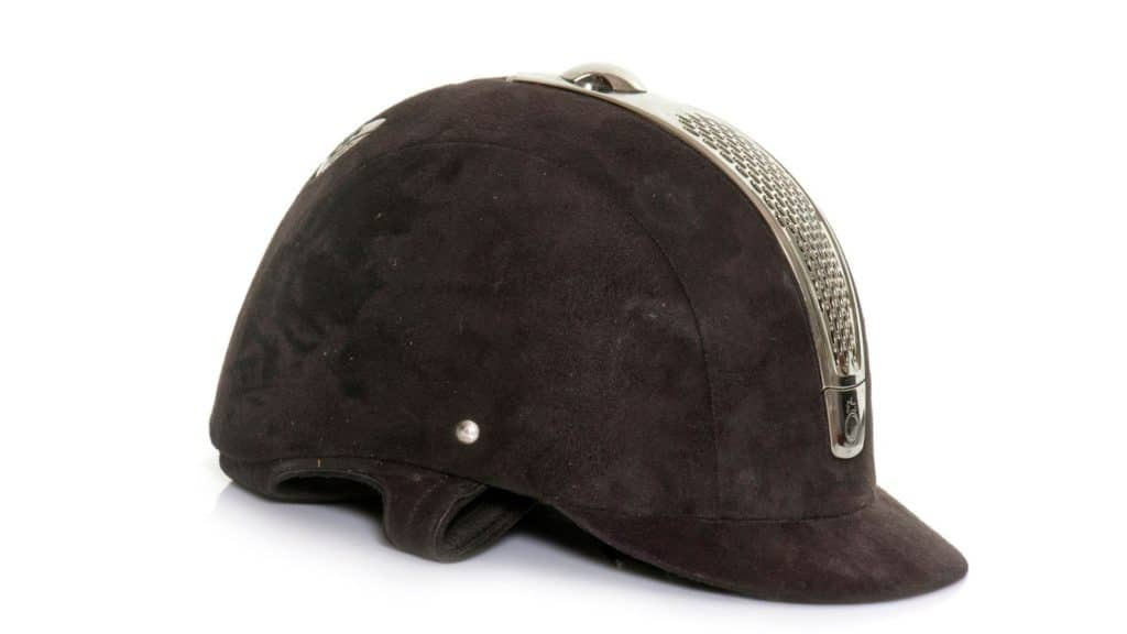 Picture of a horse riding helmet,
