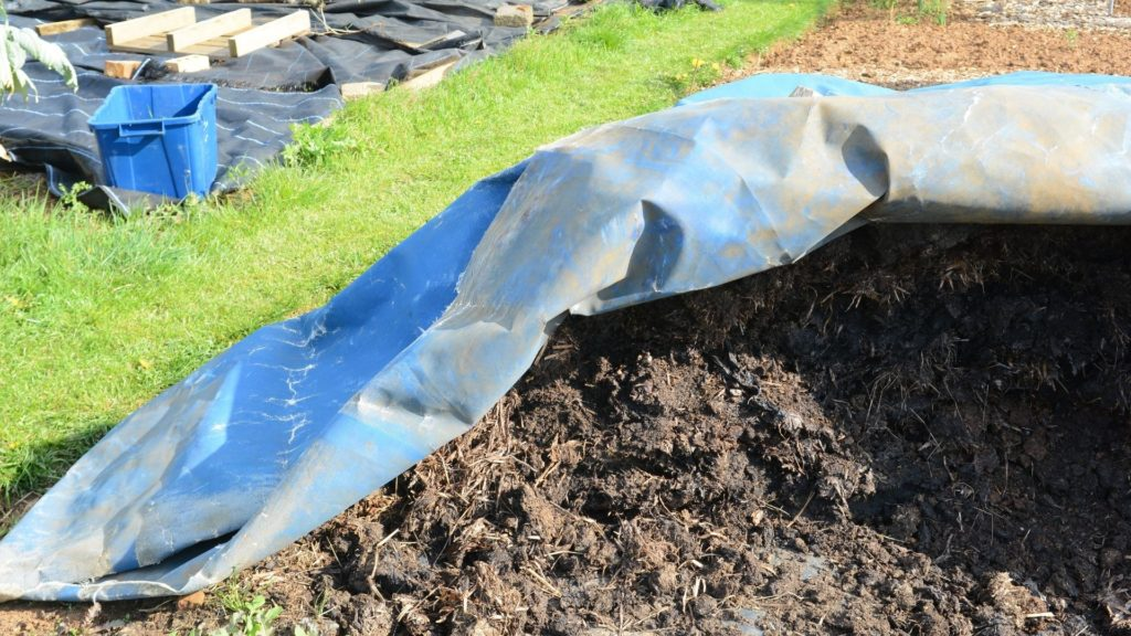 Picture of a horse manure compost,