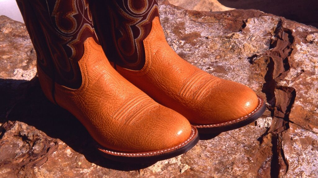 Picture of a pair of cowboy boots,