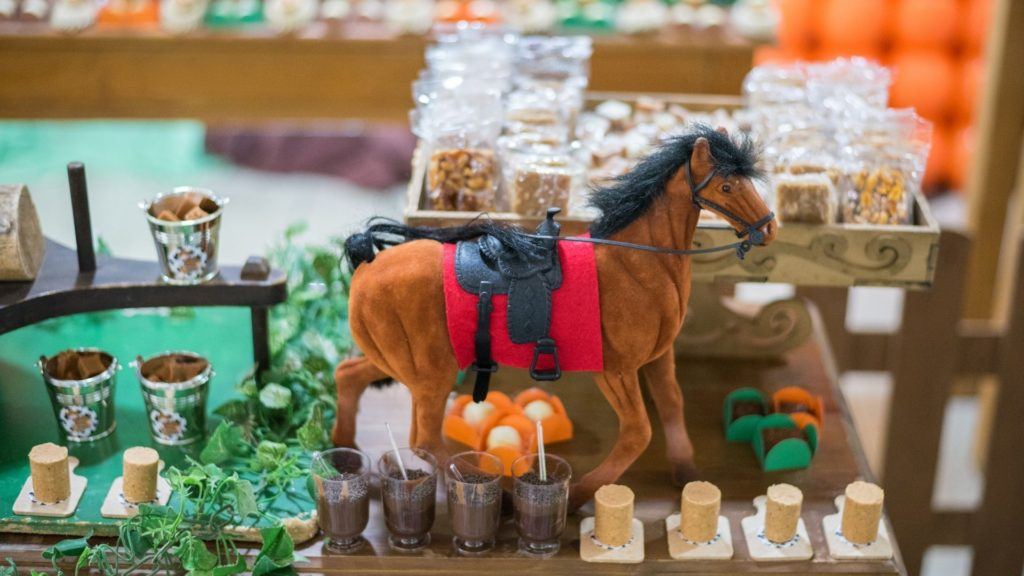 picture of horse related party favors,