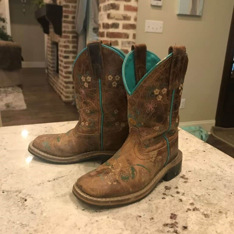 My granddaughters cowboy boots.