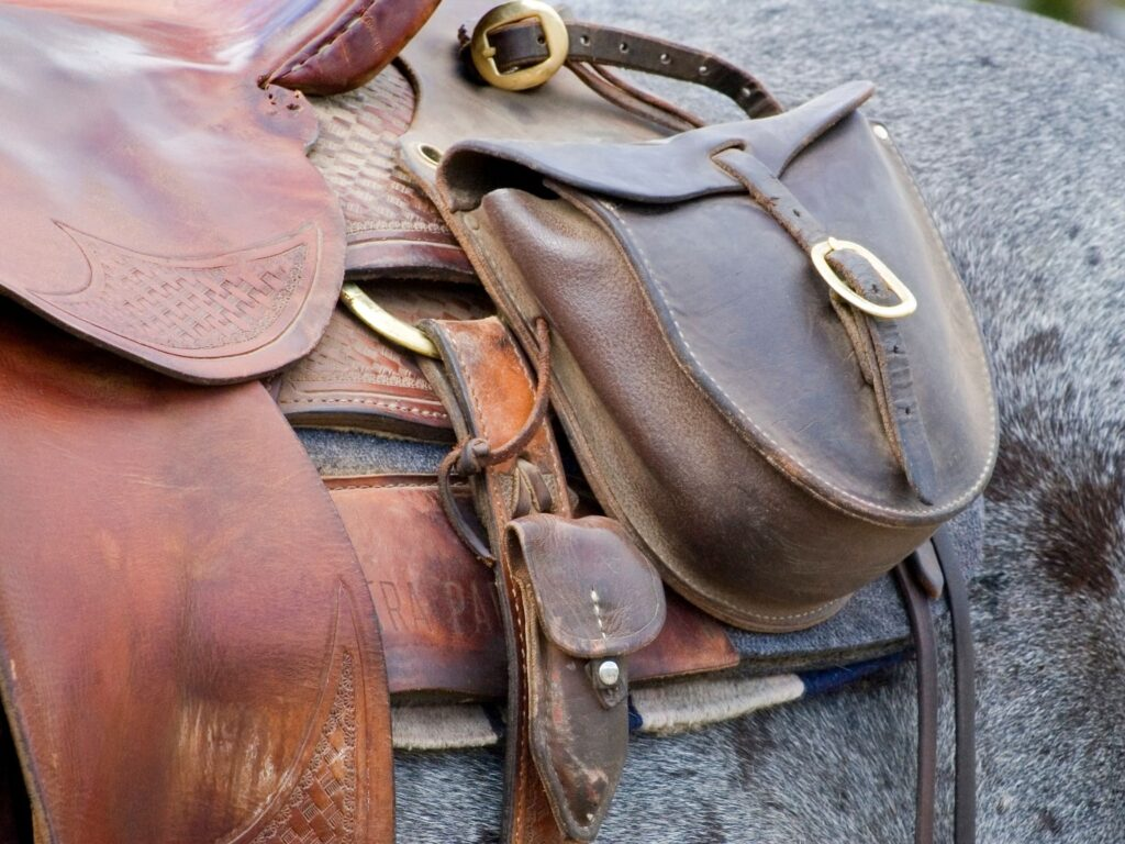 Picture of cantle bags.