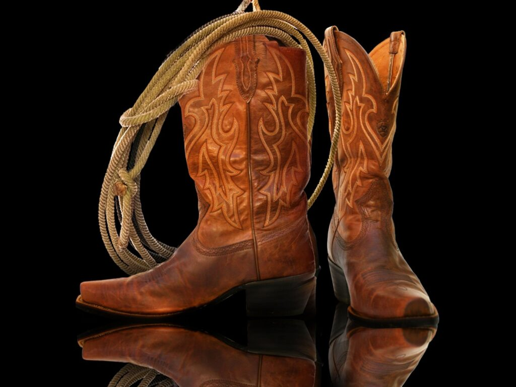 Picture of real cowboy boots.
